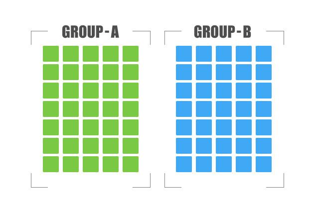 グループ分けのための配色