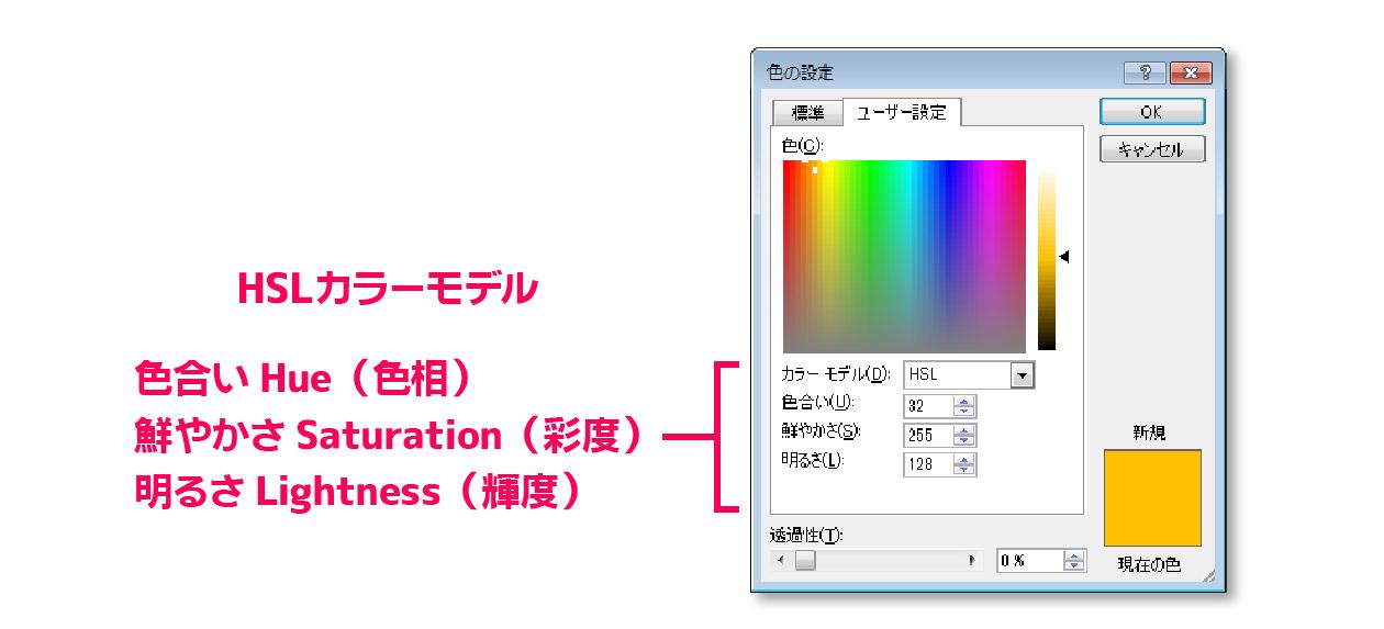 ユーザー設定-HSLカラー