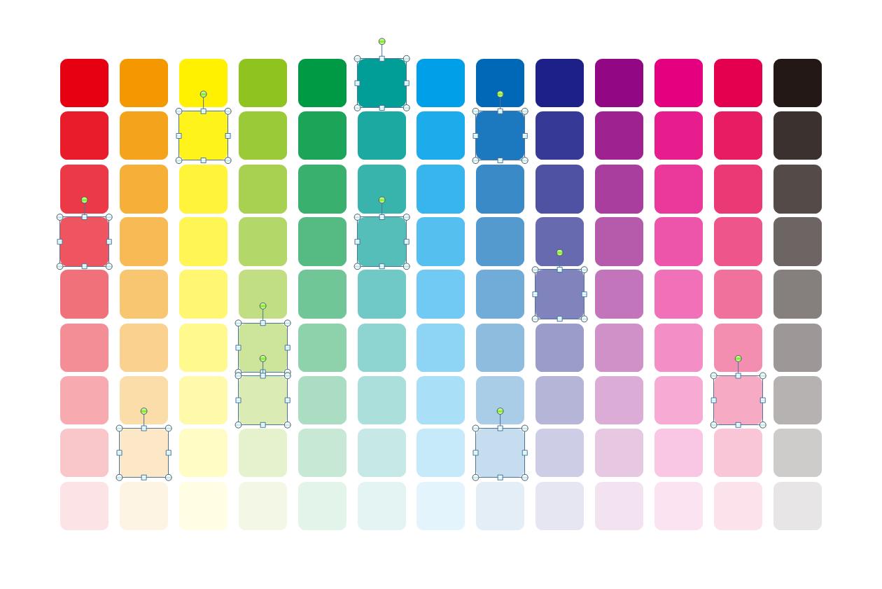 配色やグラデーションまとめ