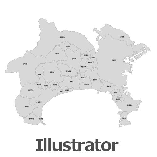 Illustrator神奈川県地図