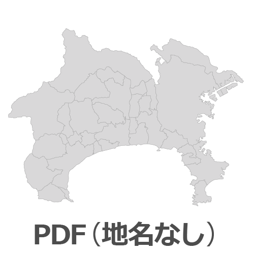 PDF神奈川県地図(地名なし)