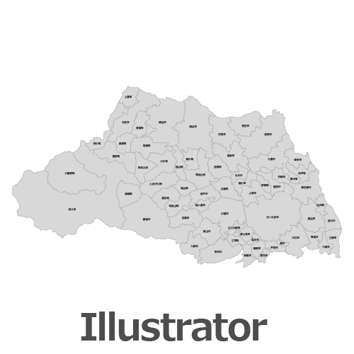 Illustrator埼玉県地図