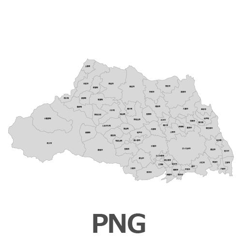 PNG埼玉県地図