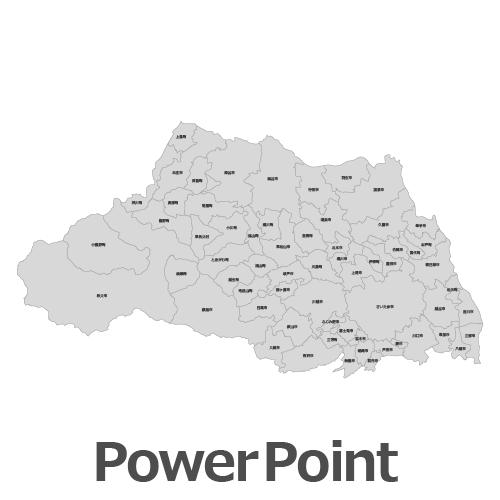 PowerPoint埼玉県地図