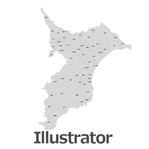 Illustrator千葉県地図