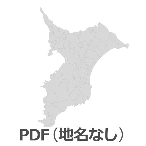 PDF千葉県地図(地名なし)
