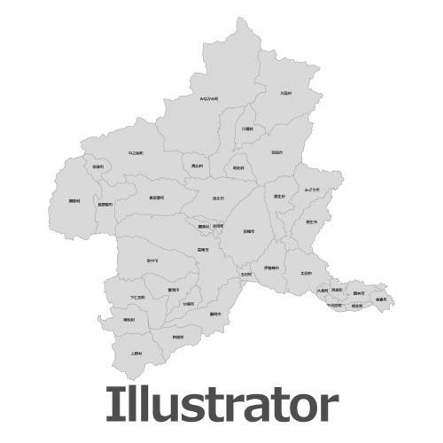 Illustrator群馬県地図