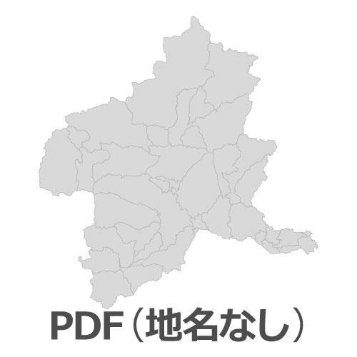 PDF群馬県地図(地名なし)