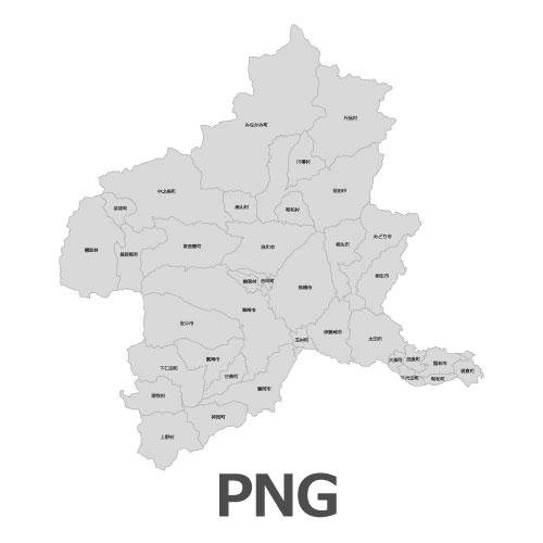 PNG群馬県地図
