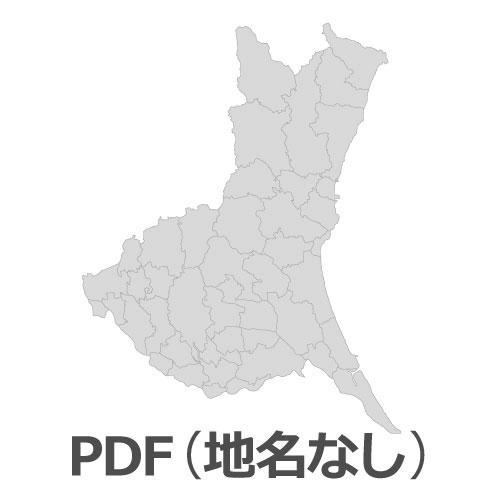 PDF茨城県地図(地名なし)