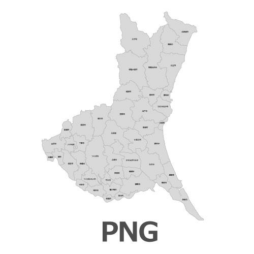 PNG茨城県地図