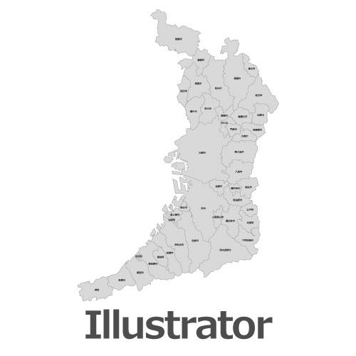 Illustrator大阪府地図