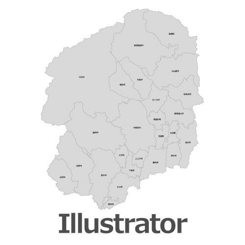 Illustrator栃木県地図