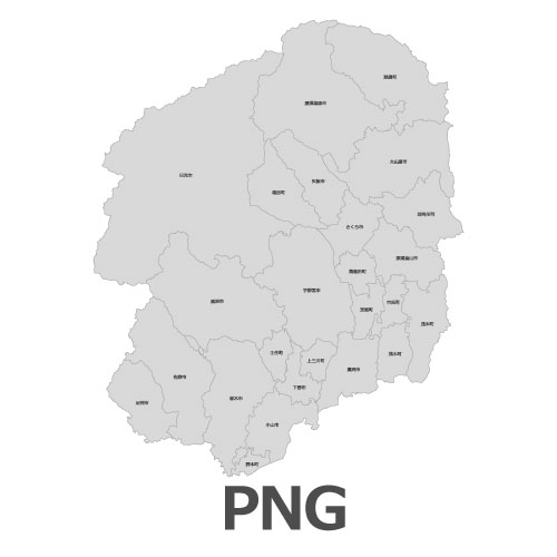 PNG栃木県地図