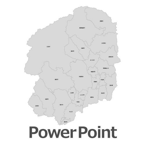 栃木県全図PowerPoint